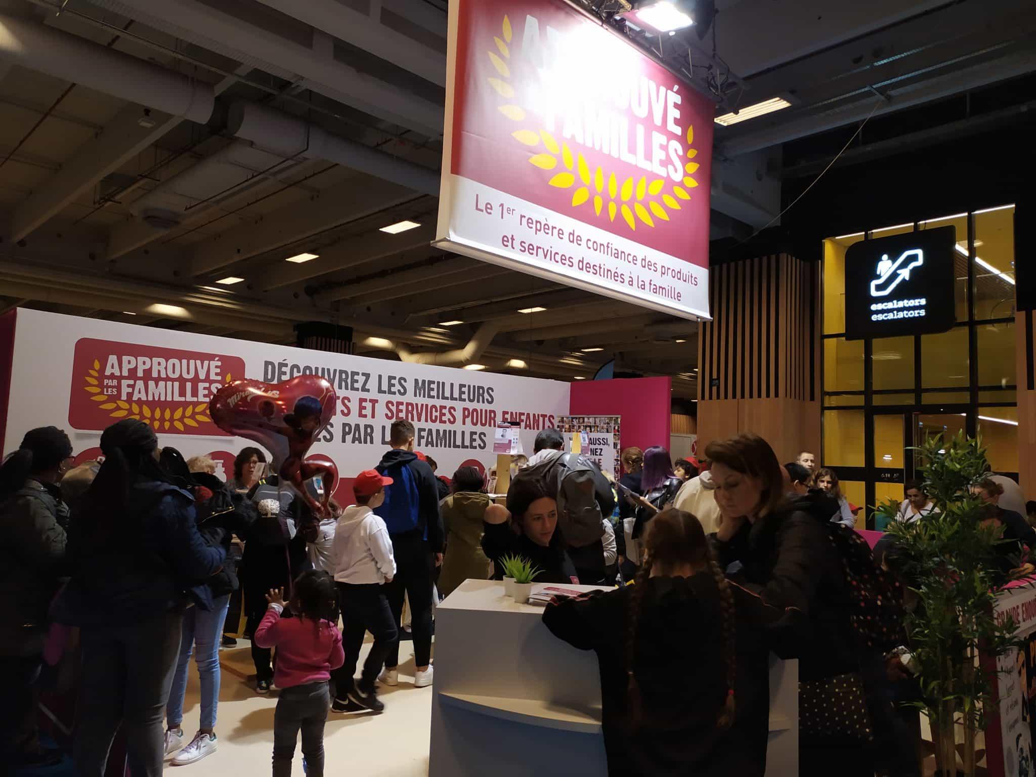 Stand Approuvé par les Familles à Kidexpo Paris 2019