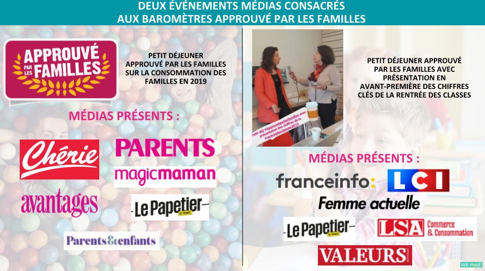 Retombées Presse Approuvé par les Familles 2019
