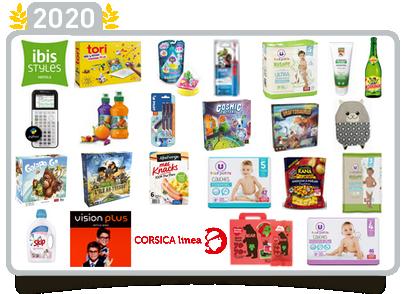 Produits lauréats Approuvé par les Familles 2020