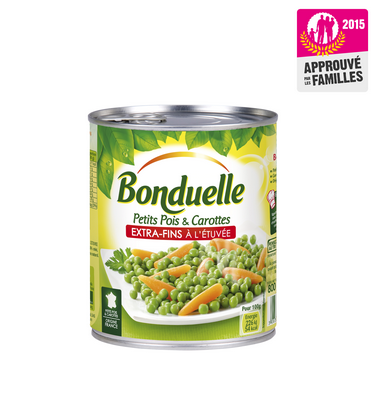 Petits pois carottes Bonduelle lauréat Approuvé par les Familles 2015