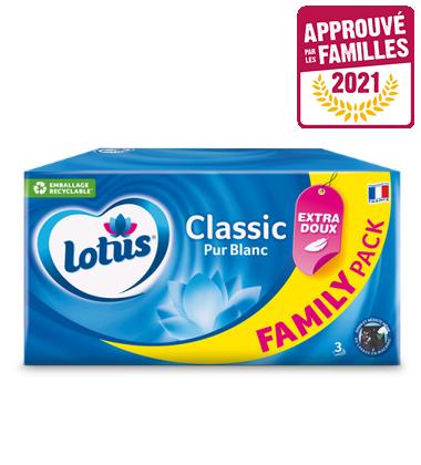 Mouchoirs Lotus Pack Familial APLF 2021